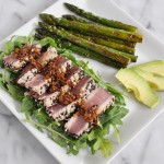 Sesame Crusted Ahi Tuna with Ginger Garlic Sauce