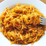 Angel Hair Sweet Potato Pasta with a Savory Sage Sauce